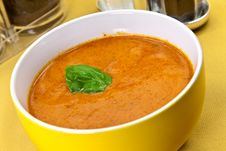 Free Soup From Beet And Tomato  With Sour Cream, View F Royalty Free Stock Image - 9023096