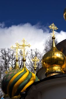 Free Christian Ortodoxal Domes Of Temple. Spaso-Preobra Stock Images - 9023244
