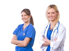 Female Medical Team Isolated On White Royalty Free Stock Images