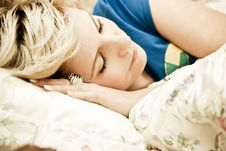 Free Woman In Bed Stock Image - 9024521