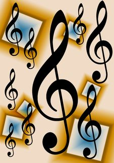 Free Treble Clef Music Background Royalty Free Stock Photos - 9026148