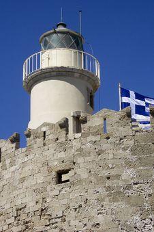 Free Lighthouse Rhodes, Greece Stock Photos - 9026873