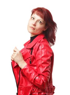Free Woman In Red Jacket Stock Images - 9027024