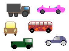 Free Cartoon Cars Stock Image - 9027681