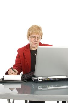 Free Succesfull Businesswoman Is Looking At Her Finance Stock Photography - 9028052