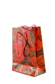 Free Little Gift Bag With Red Roses Royalty Free Stock Image - 9028536