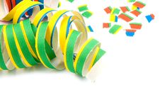 Free Colorful Party Streamers On White Royalty Free Stock Photo - 9028575