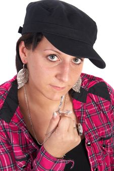 Woman With Key Stock Photography