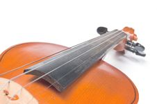 Detail Of A Violin Royalty Free Stock Image