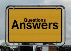 Free Questions Answers Signage Royalty Free Stock Photography - 90213837