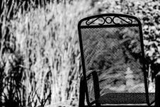 Free Mesh And Metal Chair In Garden Royalty Free Stock Photo - 90214615
