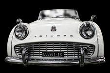 Free White Vintage Triump Sedan Stock Image - 90278901