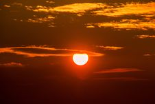 Free Sunset In Cloudy Skies Stock Image - 90279181
