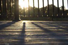 Free Sun Rays Piercing Through Railings Stock Photography - 90280072