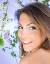 Free Beautiful Woman With Cherry Blossom Royalty Free Stock Images - 9039869