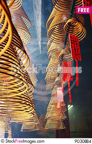 Hand rolled incense Stock Photo