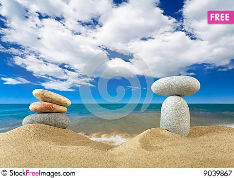 Free Landscape With Stones On Sky Royalty Free Stock Photography - 9039867