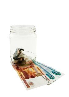 Deposit Money At Home Royalty Free Stock Photo