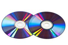 Free Two  Compact Disk On A White Background Stock Photos - 9030113