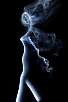 Free Smoke Abstract Vertical Stock Image - 9030411