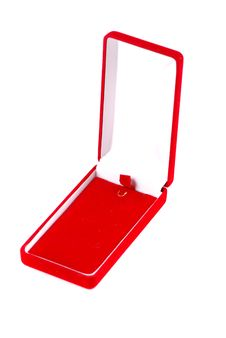 Red Box With Jeweller Royalty Free Stock Photo