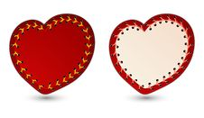 Free Vector Illustration Of Laced Hearts Royalty Free Stock Images - 9031159