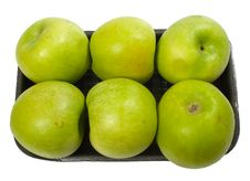 Group Of Green Apples On The Plate Royalty Free Stock Images