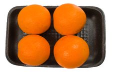 Group Of Oranges On The Plate Stock Photos