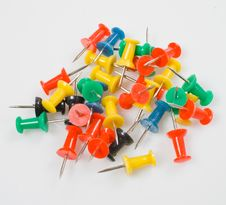 Free Heap Of Colored Pins Stock Photos - 9031653
