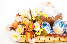 Free Easter Cake And Eggs Royalty Free Stock Photos - 9032018