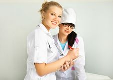Free Doctor With Her Assistant Stock Photo - 9033760