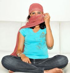 Free Girl With Covered Face Stock Photography - 9034232