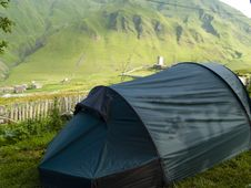 Free Tent In Ushguli Stock Photography - 9035512