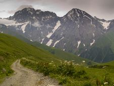 Free Route To Ushguli Royalty Free Stock Image - 9035556