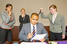 Free Team Member Stabbing The Manager In The Back Stock Photography - 9035672