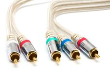 Video And Audio Cable Royalty Free Stock Images