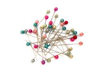 Free Multi-coloured Sewing Pins Royalty Free Stock Image - 9035976