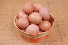 Free Eggs In A Basket Royalty Free Stock Photography - 9036017