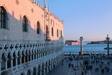 Free Palazzo Ducale, Sunset, Venice Stock Photography - 9036282
