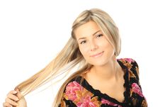 Free Cheery Young Woman Stock Images - 9036414