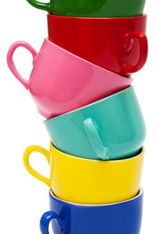 Free Color Cups Royalty Free Stock Image - 9036496