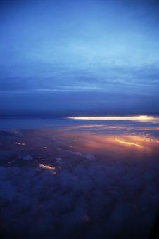 Free Sunset At 30,000 Feet Stock Photos - 9036643