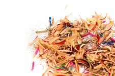 Shavings From A Pencil Stock Photo