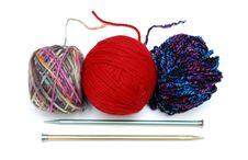 Free Yarns And Needles Royalty Free Stock Image - 9038116