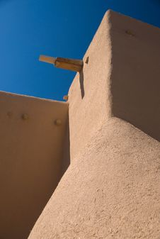 Free Adobe Roof And Sky Royalty Free Stock Photography - 9038417