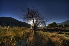 Free HDR Sunset In Tibet Stock Photography - 9038872