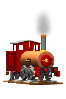 Free Steam Engine Illustration Stock Images - 9039574