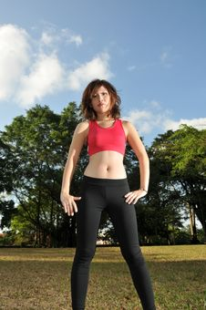 Free Sporty Woman Stock Images - 9039814