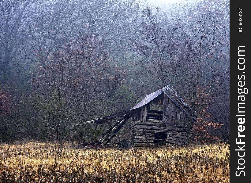 Misty Barn