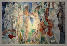 Free &x22;La Ville De Paris&x22;, Robert Delaunay, 1910-1912.. Musée D Art Moderne De La Ville De Paris Royalty Free Stock Image - 90355096